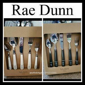 NWT Rae Dunn Cutlery Set Silverware Black